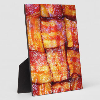 Cooked Bacon Weave Plaques