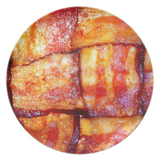 Cooked Bacon Weave Plate