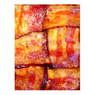 Cooked Bacon Weave Postcard