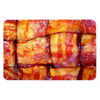 Cooked Bacon Weave Vinyl Magnets