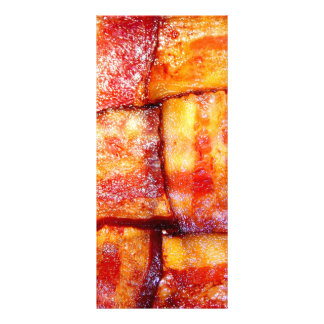 Cooked Bacon Weave Rack Card Design
