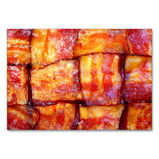 Cooked Bacon Weave Table Card