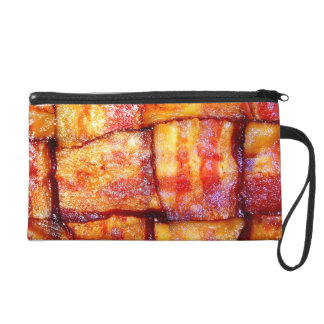 Cooked Bacon Weave Wristlet Purse