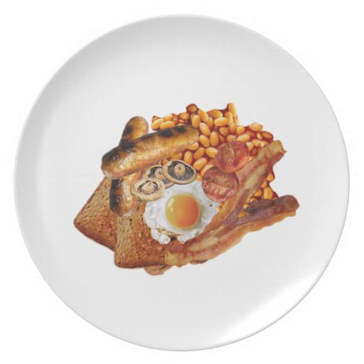 Cooked Breakfast Party Plates