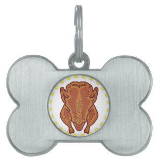 Cooked Chicken Vector Pet ID Tag