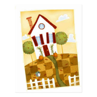 cooked house postcard