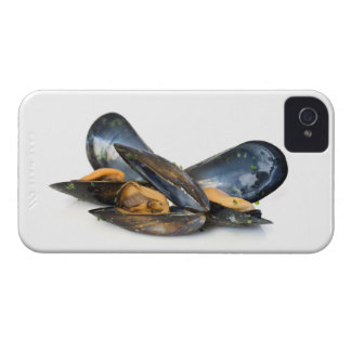 cooked mussels over white Case-Mate iPhone 4 case