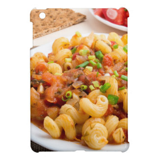 Cooked pasta cavatappi closeup iPad mini cover