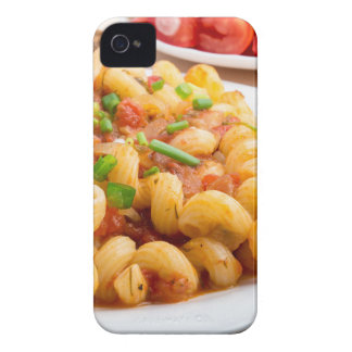Cooked pasta cavatappi with vegetables sauce Case-Mate iPhone 4 case