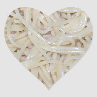 Cooked Spaghetti Noodles Heart Sticker