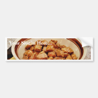Cooked Stew Meat Bumper Sticker