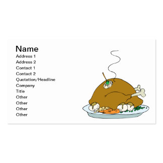 Cooked Turkey Double-Sided Standard Business Cards (Pack Of 100)