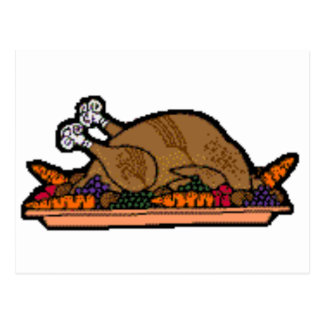 cooked turkey postcard
