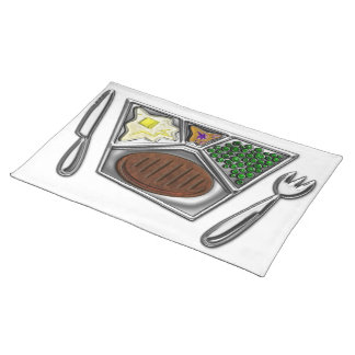 Cooked TV Style Frozen Meal Cloth Placemat
