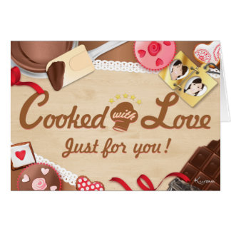 """""""Cooked with Coils, just for you!"""" Card & Envelope"""