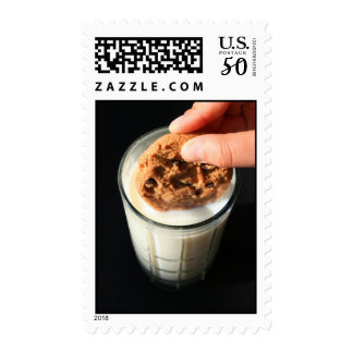Cookie and a Glass of Milk Postage