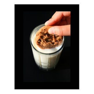 Cookie and a Glass of Milk Postcard