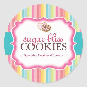 Valentines Themed Cookie and Dessert - Packaging Stickers