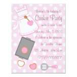 Cookie Baker 4.25x5.5 Paper Invitation Card