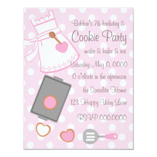 "Cookie Baker 4.25"" X 5.5"" Invitation Card"