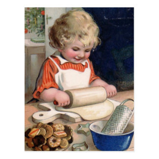 """""""Cookie Baking"""" Christmas Card Post Cards"""
