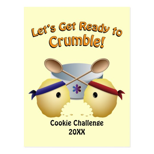 Cookie Baking Competition Postcard