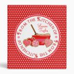 Cookie Baking Polka Dot Recipe Binder
