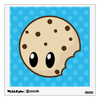 Cookie Bite Blue Dots Wall Decal