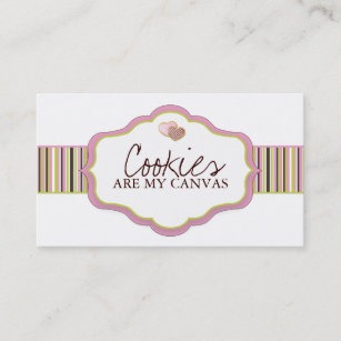 Sugar cookies business cards zazzle cookie business cards colourmoves