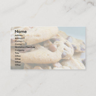 Cookies business cards templates zazzle cookie business cards 001 colourmoves