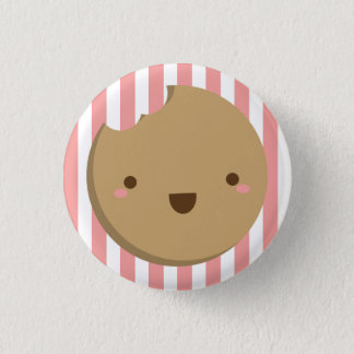 Cookie Button - Pink Stripes