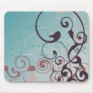 Cookie Color Abstract Swirl Mouse Pad