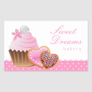 Cookie Cupcake Bakery Sticker Icing Dots