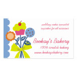 cookie cupcake bouquet baking business cards