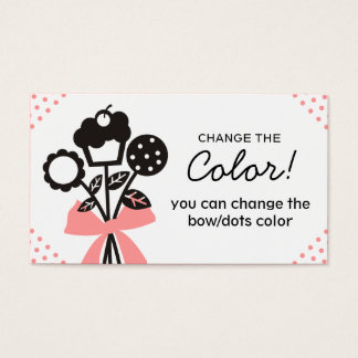 cookie cupcake bouquet baking business cards 3