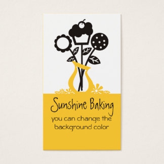 cookie cupcake bouquet baking business cards 4