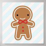 Cookie Cute Kawaii Gingerbread Man Poster