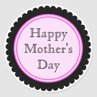 Cookie Cutter Hot Pink Mother's Day Stickers