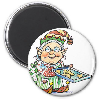 Cookie Elf 2 Inch Round Magnet