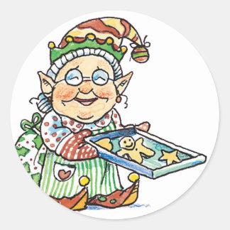 Cookie Elf Classic Round Sticker