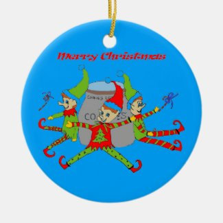 Cookie Elves' Christmas Ornament