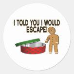 Cookie Escape Round Stickers