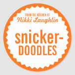 Cookie Exchange Bake Sale Label Template Round Stickers