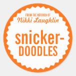 Cookie Exchange Bake Sale Label Template Classic Round Sticker