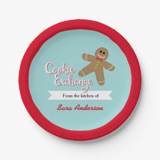 Cookie Exchange, From the kitchen of, Personalized Paper Plate