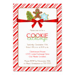 "Cookie Exchange Party Invitation 5"" X 7"" Invitation Card"