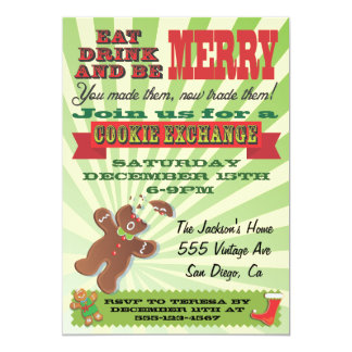cookie exchange invitations  announcements  zazzle, party invitations