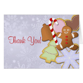 Cookie Exchange Party Thank You Cards - blue