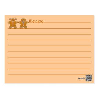 Cookie Exchange Recipe~Gingerbread~Customize Postcard