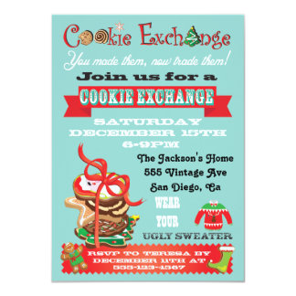 Cookie Exchange/ Ugly Sweater Party Invitations